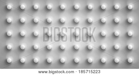 Volume realistic gray embossing texture, depressed circles background, 3d geometric pattern, design vector wallpaper