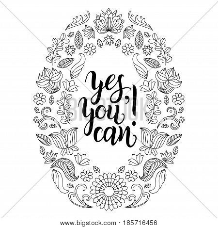 Yes, You can vector hand lettering poster. Motivational quote, inspirational phrase typography design for t-shirt print, card etc.