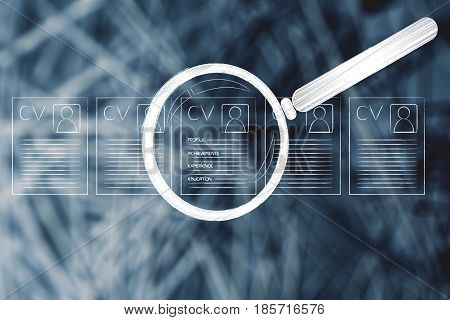 Resume Standing Out Among Others, With Magnifying Glas