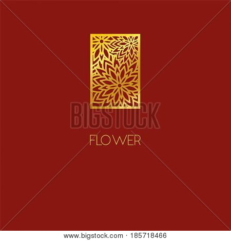 Abstract Flower Logo Icon Design. Elegant Bouquet Of Flowers. Template For Creating Unique Luxury De