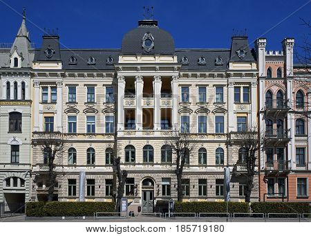 Riga Elizabetes 19 a historical building with elements of neoclassicism and eclecticism a facade
