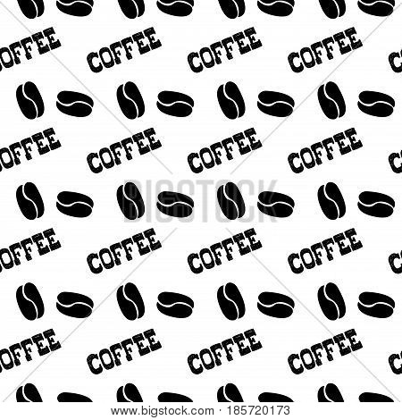 Seamless Pattern Hand Drawn Coffee And Coffee Beans.