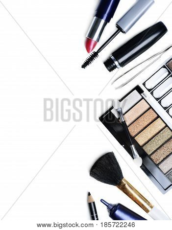 Make up set isolated over white background
