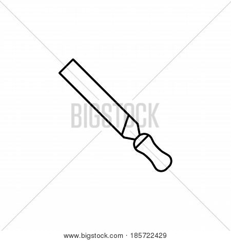 File and rasp tool line icon, build repair elements, construction tool, a linear pattern on a white background, eps 10.