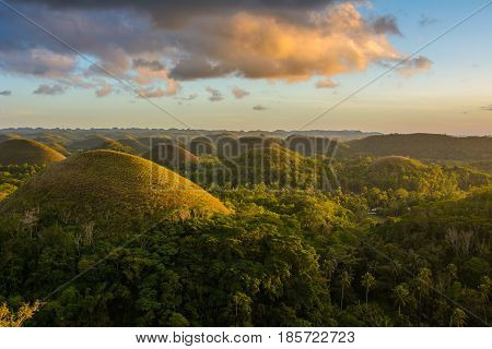 Amazing Chocolate Hills on Bohol Island, Philippines