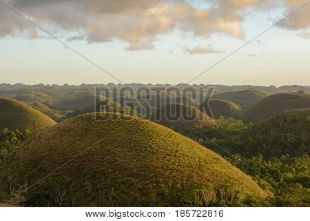 Chocolate Hills - main landmark of Bohol island, Philippines