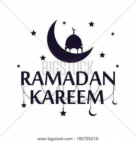 Traditional ramadan kareem art month celebration greeting card festival design. Holy muslim culture islamic religion mubarak eid islam holiday holy ramazan vector illustration