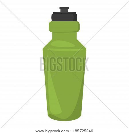 Blank bicycle plastic bottle for water. Drink isolated container water bottle and plastic healthy clean beverage water bottle. Natural freshness water bottled container liquid plastic.