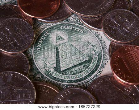 Dollar bill currency US american savings finance