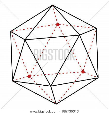 Vector Single Line Illustration - Polygon