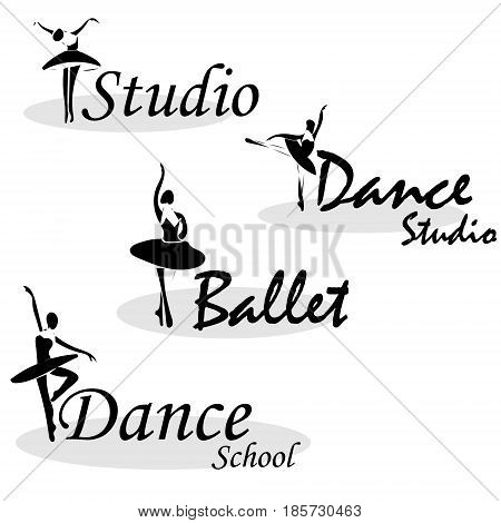 Vector Illustration Abstract Woman Icon In Dance. Dance School, Dance Studio Logo Design Vector Temp