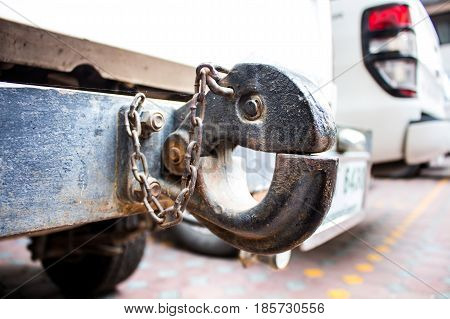 The towing hook in a truck for transport