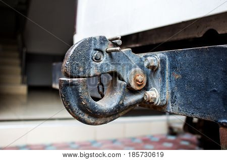 The towing hook in a truck for transport.