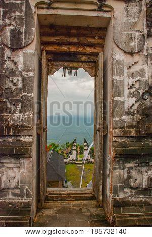 Traditional Balinese Temple Pura Penataran Agung Lempuyang On Bali, Indonesia