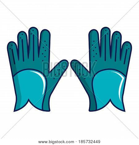 Blue golf gloves icon. Cartoon illustration of blue golf gloves vector icon for web