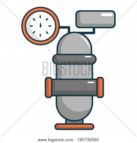 Oil industry equipment icon. Cartoon illustration of oil industry equipment vector icon for web