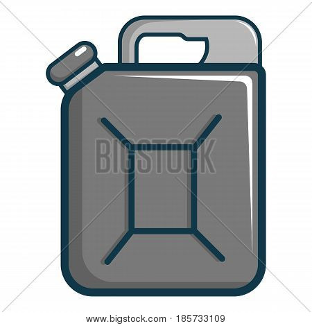 Jerrycan icon. Cartoon illustration of jerrycan vector icon for web