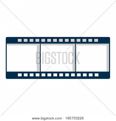 Film strip icon. Cartoon illustration of film strip vector icon for web