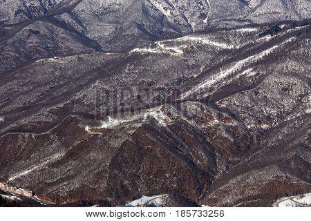 The ski resort of Rosa Khutor in Krasnaya Polyana. Sochi, Russia