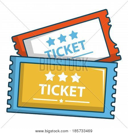 Cinema tickets icon. Cartoon illustration of cinema tickets vector icon for web