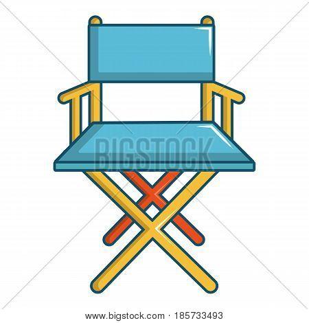 Cinema director chair icon. Cartoon illustration of cinema director chair vector icon for web