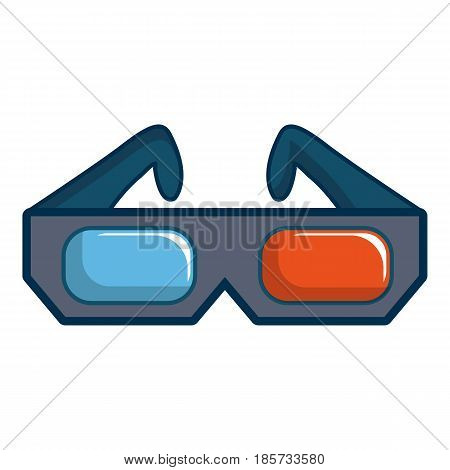 3D cinema glasses icon. Cartoon illustration of 3D cinema glasses vector icon for web