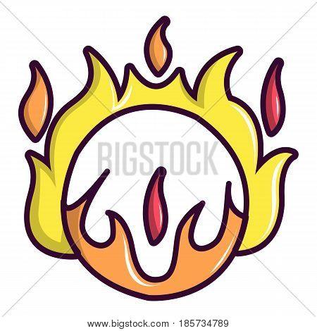 Circus ring of fire icon. Cartoon illustration of circus ring of fire vector icon for web