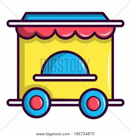 Circus ticket booth icon. Cartoon illustration of circus ticket booth vector icon for web