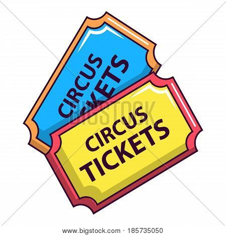 Circus tickets icon. Cartoon illustration of circus tickets vector icon for web
