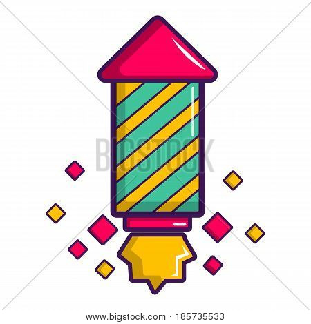 Party popper icon. Cartoon illustration of party popper vector icon for web