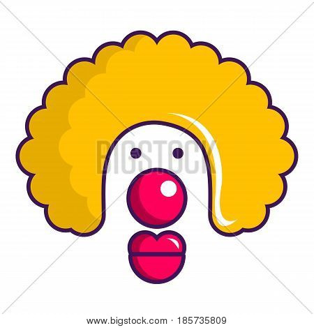 Clown face icon. Cartoon illustration of clown face vector icon for web