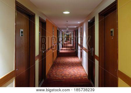 DELHI, INDIA - MARCH 02: Hotel Ibis Delhi Airport, located adjacent to both T1 & T3 airport terminals, on March 02, 2016 in Delhi, India.