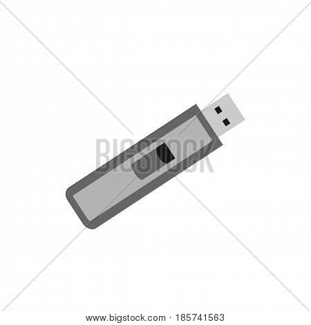 Usb memory flash flat icon. Isolated on white background.