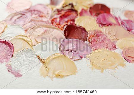 Oil paint on canvas, closeup