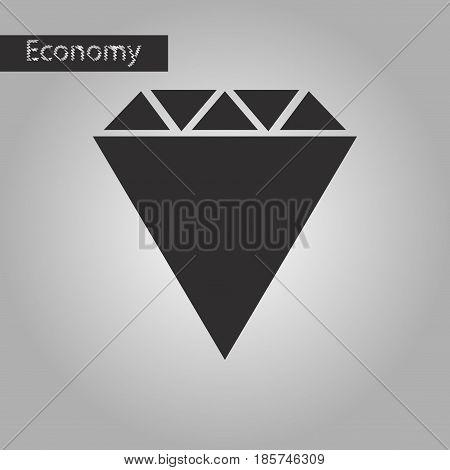 black and white style icon diamond business
