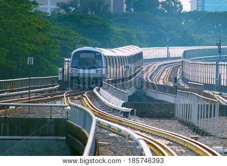 Underground Train In Singapore