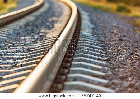 Railroad track train tracks railing railroad railway track train
