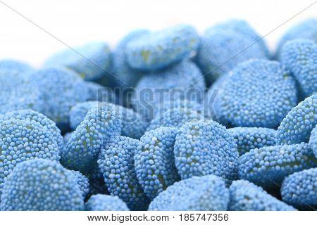 Blue Jelly Gumdrop Sweet Background