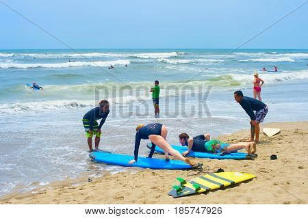 Surfing School. Bali Island, Indonesia