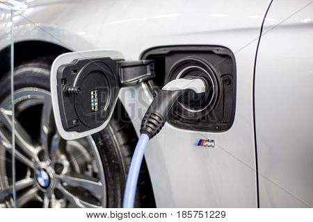 Recharging Of Hybrid Bmw Car