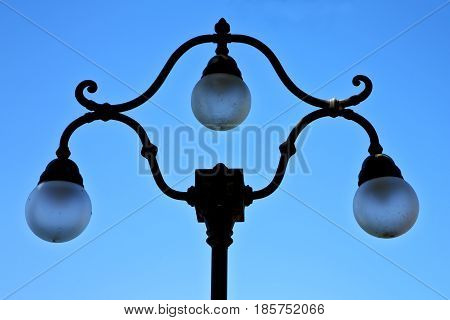 Street Lamp A Bulb In The   Lugano