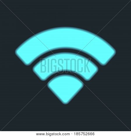 Wifi icon isolated. Wireless Wi-Fi zone network symbol. Vector illustration.