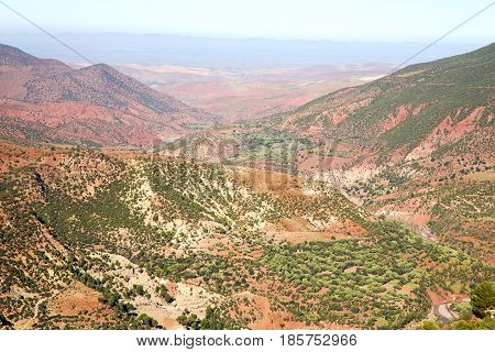 The    Dades Valley   Atlas  Africa Ground  And Red