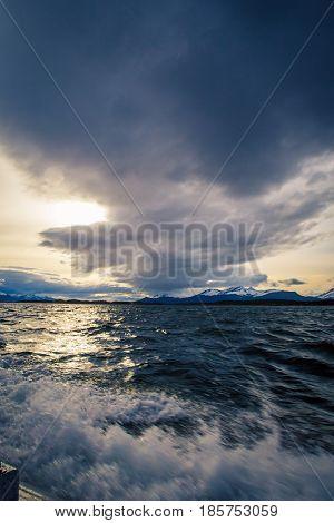Strait of Magellan in Tierra del Fuego Argentina