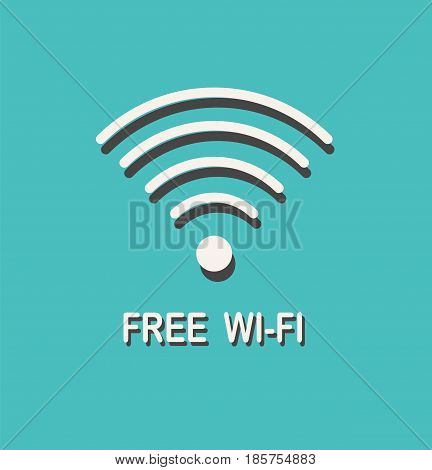 Free wifi sign. Wifi symbol. Wireless network icon. Wifi zone. Vector stock.