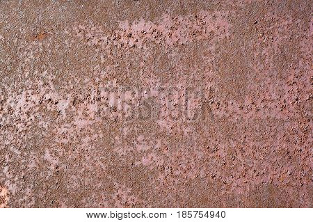 Multicolored Peeling Wall Texture And Background. Surface With Pimples, Brush Strokes, Stains.