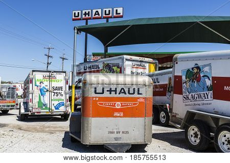 Kokomo - Circa May 2017: U-Haul Moving Truck Rental Location. U-Haul offers moving and storage solutions I