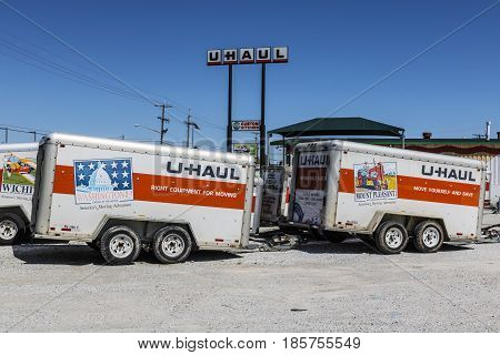 Kokomo - Circa May 2017: U-Haul Moving Truck Rental Location. U-Haul offers moving and storage solutions III