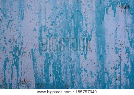 Multicolored Peeling Wall Texture And Background. Surface With Brush Strokes, Stains.