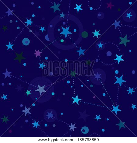 Starry Night pattern swatch (seamless tile, backgound)